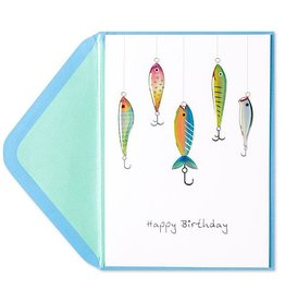 PAPYRUS® Birthday Cards Fish On Hooks