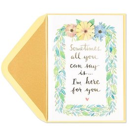 PAPYRUS® Sympathy Cards Glitter Leaf Painterly Cartouche