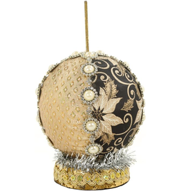 Mark Roberts Fairies Ornamental Ball Stand 5 inch Black Gold