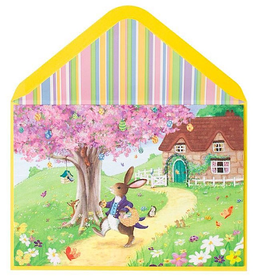 PAPYRUS® Easter Card Happy Easter Rabbit Delivering Eggs