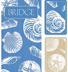 Caspari Bridge Gift Set w 2 Card Decks 2 Score Pads - Shells