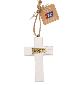 Mud Pie Hope Wooden Cross American Cancer Society Ornament
