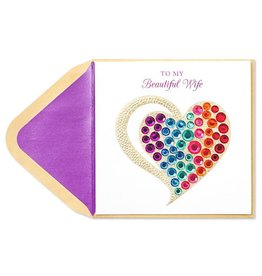 PAPYRUS® Mothers Day Cards For Wife Bright Gem Heart