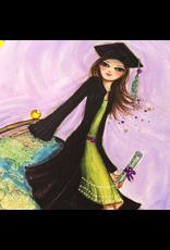 PAPYRUS® Graduation Card Bella Girl with Globe