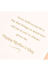 PAPYRUS® Mothers Day Card For Grandma Elegant Embroidery Flower Chain
