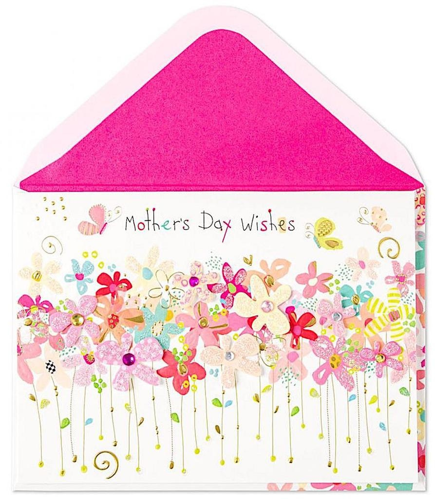 PAPYRUS® Mothers Day Cards - Rows of Whimsy Flowers