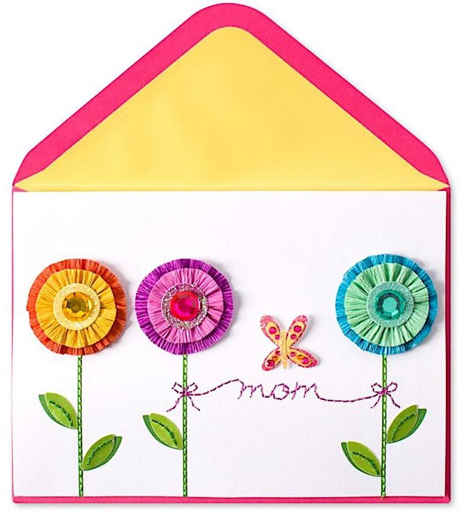 PAPYRUS® Mothers Day Card Crepe Paper Flowers