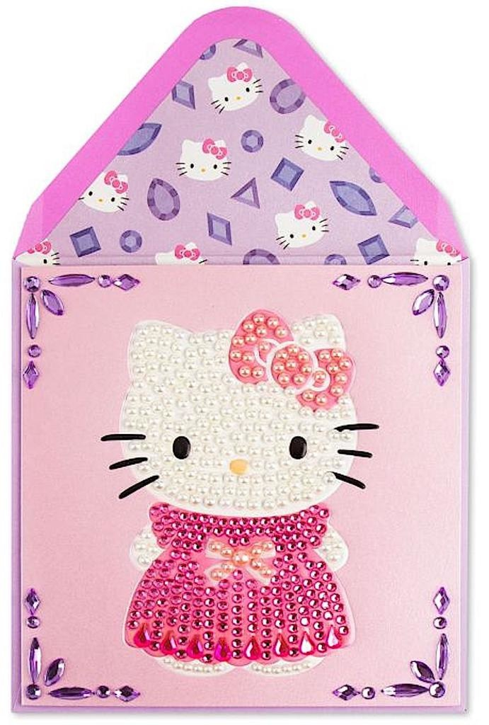 PAPYRUS® Mothers Day Cards Dazzling Hello Kitty White Pearls