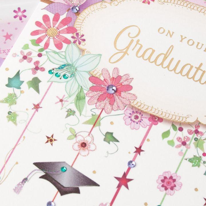 PAPYRUS® Graduation Cards Ivy Flowers And Grad Icons