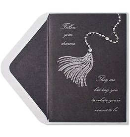 PAPYRUS® Graduation Card Gem Tassel On Black