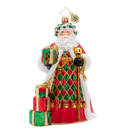 Christopher Radko Holiday Harlequin Christmas Ornament