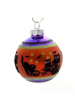 Christopher Radko Shiny Brite Halloween Ornaments 2.5-in Flocked Ombre 9pc