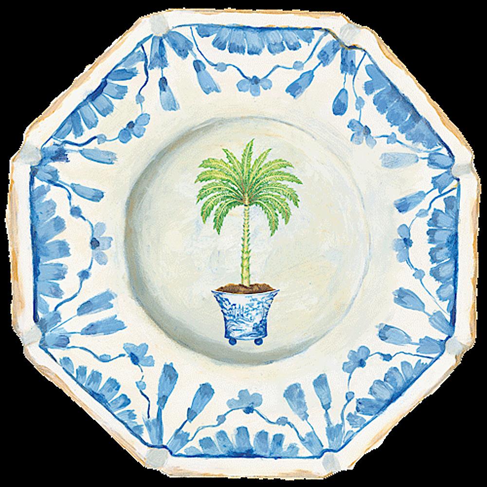 Caspari Palm China Placemats Single Hard Die Cut Table Mat 1 Each