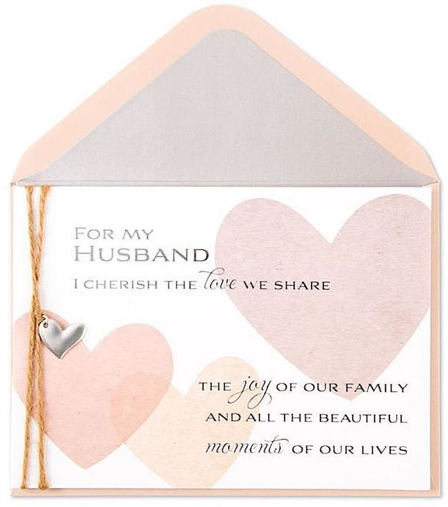 PAPYRUS® Fathers Day Cards For Husbands Textured Hearts
