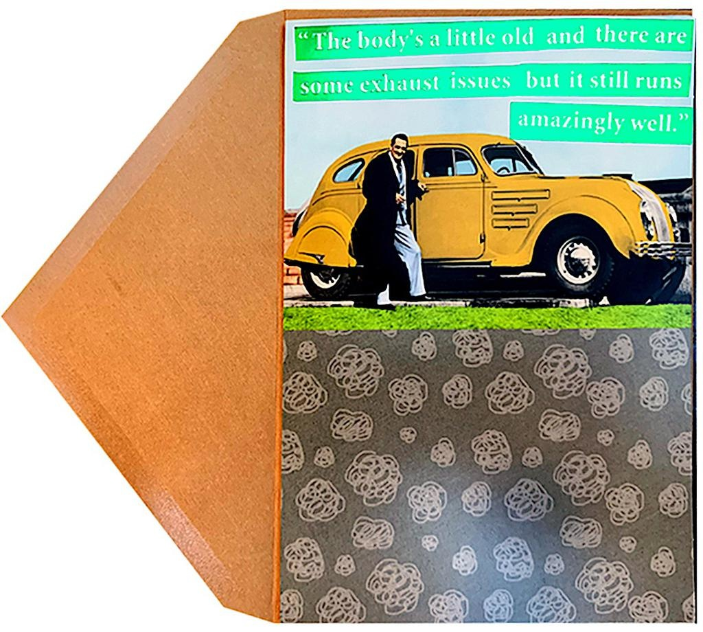 PAPYRUS® Fathers Day Cards For Dads Man With Old Car Exhaust Issues