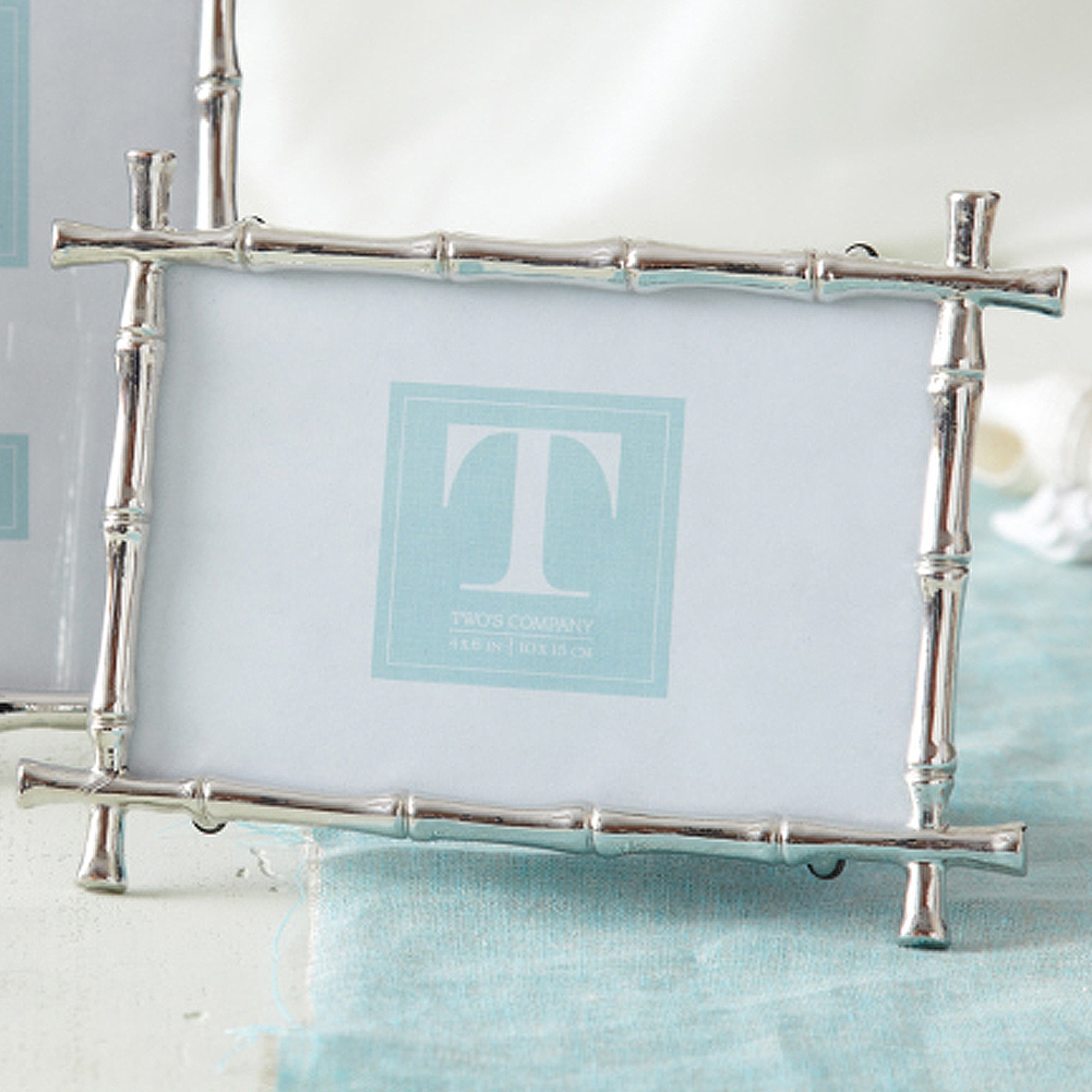Twos Company Silver Bamboo 4x6 Photo Frame 9851-S