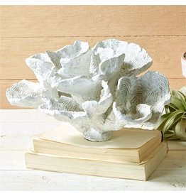 Tozai Home White Cup Coral Sculpture 13x9 51287