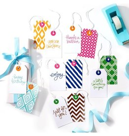 Twos Company Chit Chat Tie On Gift Tags Set of 6