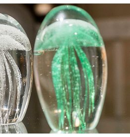 Tozai Home Fossilise Small Jellyfish in Glass Green