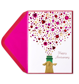 PAPYRUS® Anniversary Card Champagne with Gems A-5848115