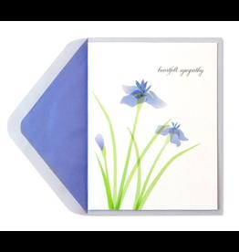 PAPYRUS® Sympathy Card Purple Irises