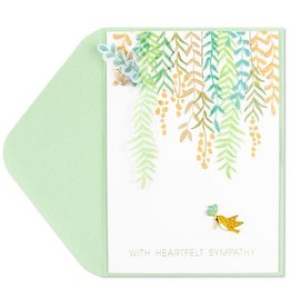 PAPYRUS® Sympathy Card Little Bird Dove And Leaves