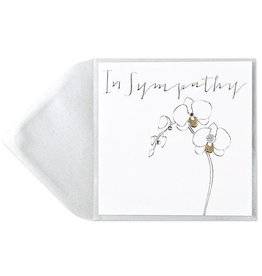 PAPYRUS® Sympathy Card Orchid With Gems