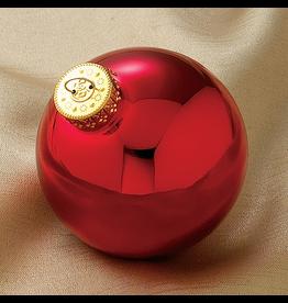 Kurt Adler Christmas Ball Ornaments 80MM Set 4 Shinny Red Glass