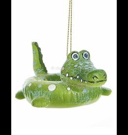 Kurt Adler Pool Float Ornament Alligator-Gator-Crocodile 3 Inches Tall