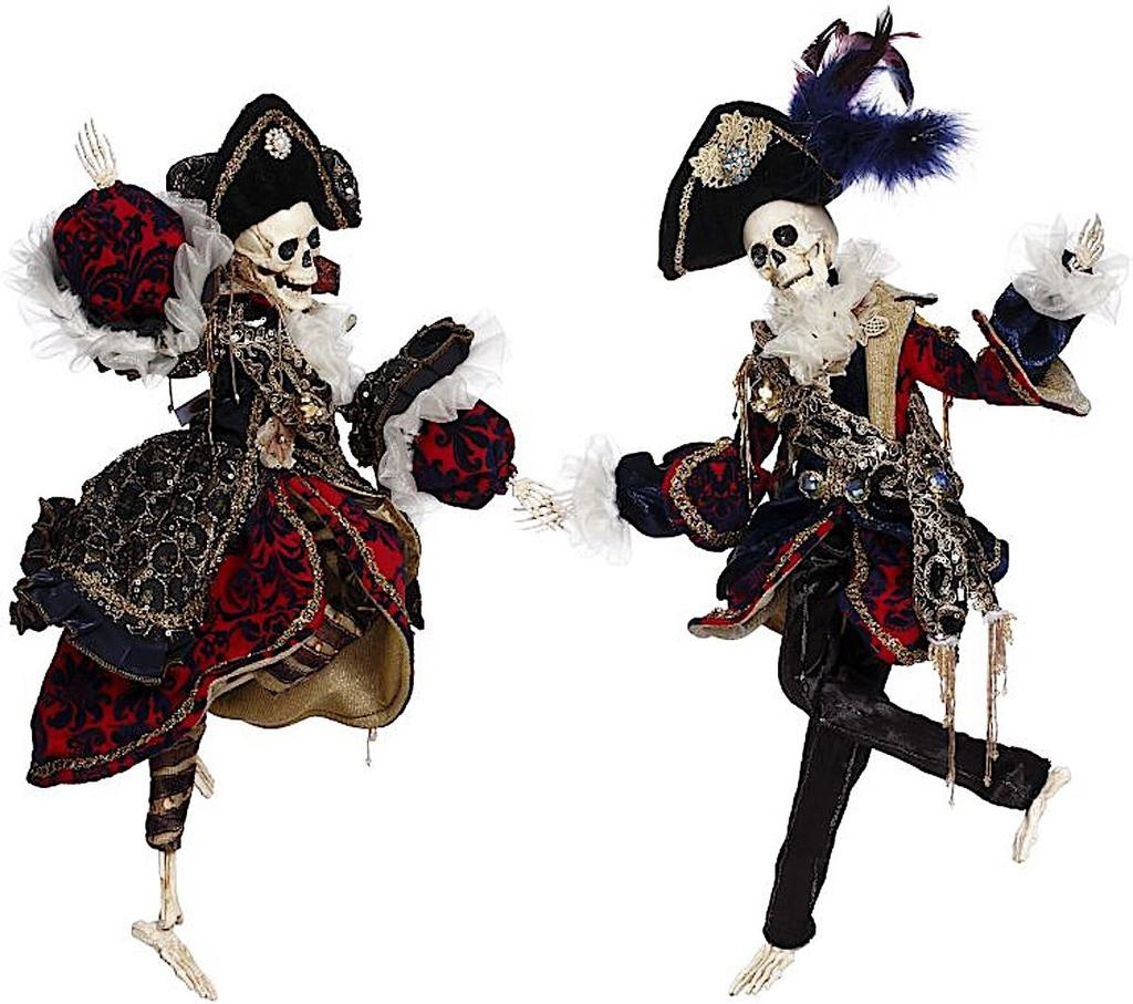 Mark Roberts Fairies Skeletons 51-96840 Mr Mrs Pirate Skeleton 19-20 Inch