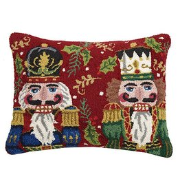 Peking Handicraft Nutcracker Duo Hook Pillow BF 16x20 Inch