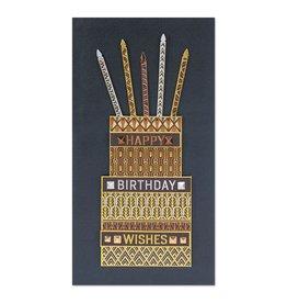 PAPYRUS® Birthday Card Foil Cake Happy Birthday Wishes