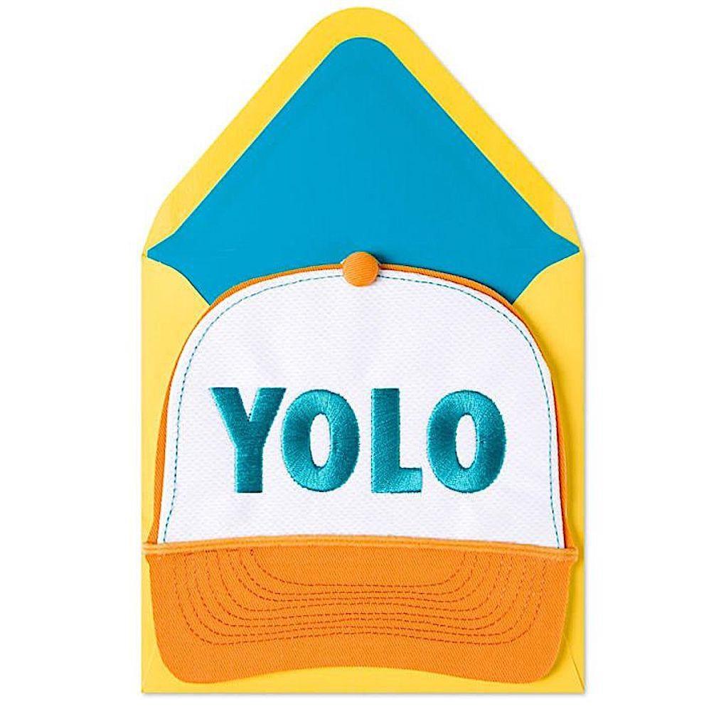 6280354ab PAPYRUS® Birthday Card Yolo Trucker Hat