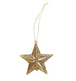 Darice Mini Glittered 3D Gold 2 Inch Stars Ornaments 12-Pack