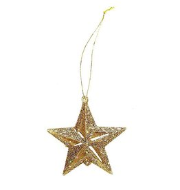 Darice Mini Glittered 3D Gold Stars Ornaments 12-Pack 2 Inch
