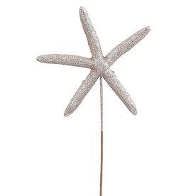 Darice Starfish Glittered Pick 6x10 Inch Champagne-Silver Gold