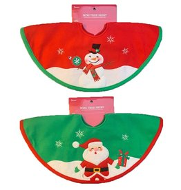 Darice Mini Christmas Tree Skirts 2 Asstorted 18 Inch Snowman-Santa