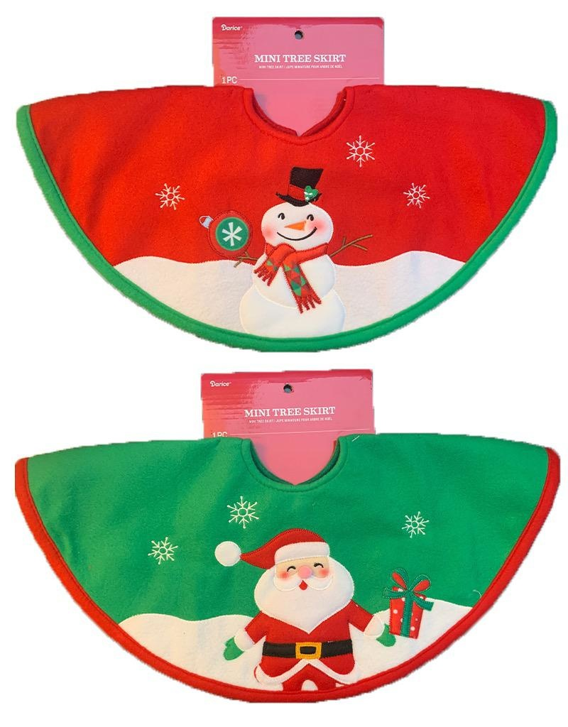 Darice Mini Christmas Tree Skirts 2 Torted 18 Inch Snowman Santa