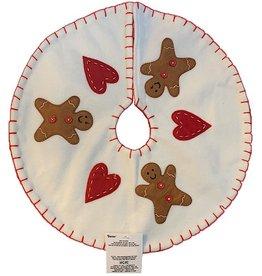 Darice Mini Christmas Tree Skirt 13 Inch Gingerbread Men W Hearts