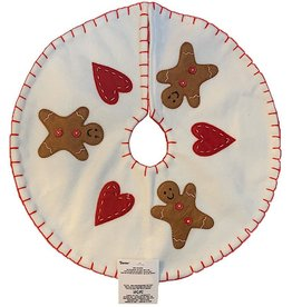 Darice Mini Christmas Tree Skirt 18 Inch Gingerbread Men W Hearts