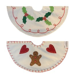 Darice Mini Christmas Tree Skirts 2 Asstorted 13 Inch Gingerbread-Holly