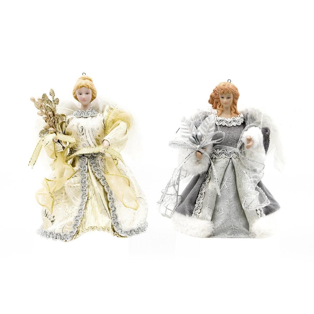 Christmas Angel Tree Topper.Darice Christmas Angel Tree Topper W Feathers 5 25x6 Inch 2 Assorted