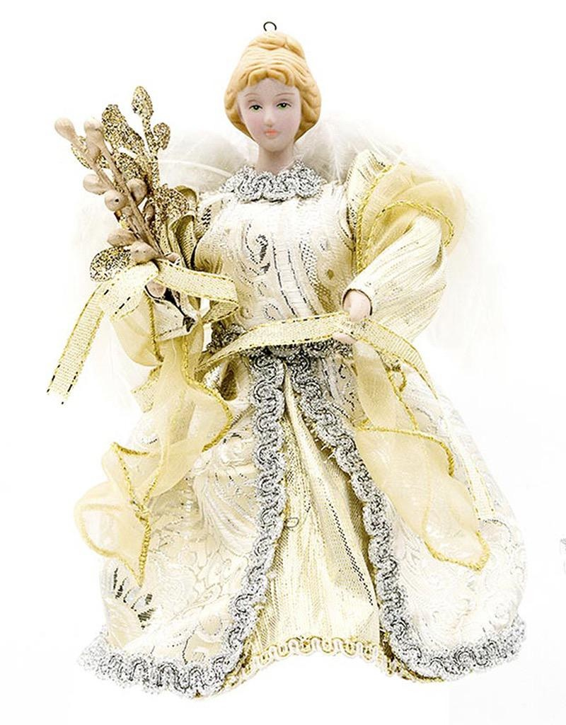 Christmas Angel Tree Topper.Darice Christmas Angel Tree Topper W Feathers 5 25x6 Inch Gold