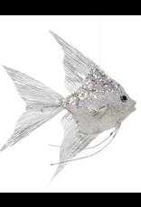 Mark Roberts Angel Fish Ornaments 10x8.5x1.75 Inch Silver