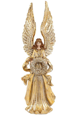 Mark Roberts Christmas Decorations Elegant Gold Angel Figurine Standing W Wings Up 20 Inch