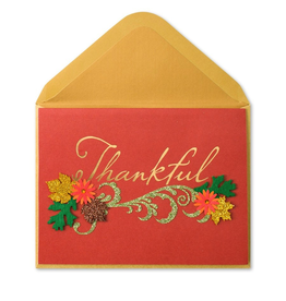 PAPYRUS® Thanksgiving Card Thankful Paper Sculpture
