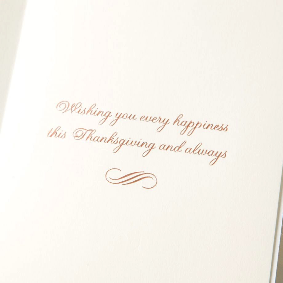 PAPYRUS® Thanksgiving Card Wheat and Feathers Bunch