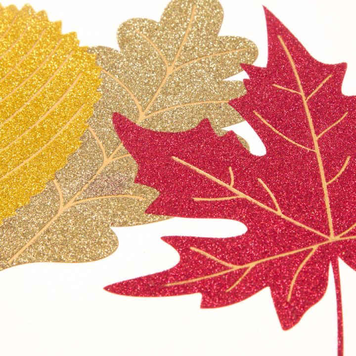 PAPYRUS® Thanksgiving Cards Glittered Fall Leaves