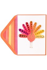 PAPYRUS® Thanksgiving Cards Fancy Watercolor Turkey With Gems