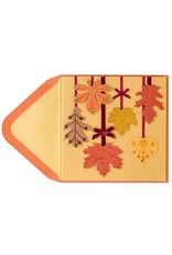 PAPYRUS® Thanksgiving Cards Fall Leaves Hanging From Ribbons